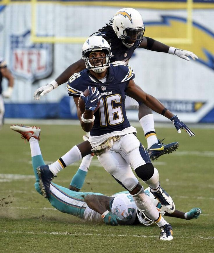 Dolphins vs. Chargers:  31-24, Dolphins  -  November 13, 2016  -     San Diego Chargers wide receiver Tyrell Williams scores against the Miami Dolphins during the second half of an NFL football game in San Diego on Nov. 13, 2016. Denis Poroy AP