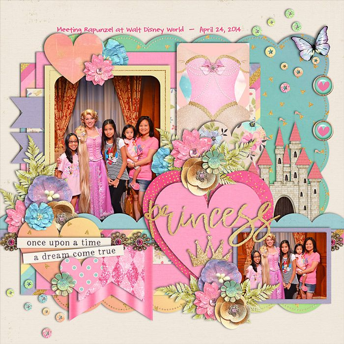 For the 2016 May Bingo #6 - one word title  CREDITS: Believe in Magic: Princess Fair by Amber Shaw and Studio Flergs Cindy's Layered Templates - Set 214: Princess Fair by Cindy Schneider - LO by immaculeah