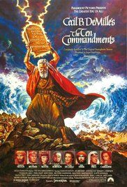 "The Ten Commandments Poster(1956)' Nefretiri(Ann Baxter) to Moses(Charlton Heston): ""Oh, Moses, Moses, you stubborn, splendid, adorable fool! """