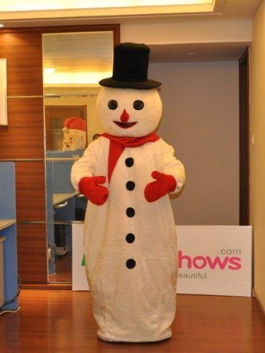 クリスマス 帽子をかけている雪だるま 雪だるま着ぐるみ http://www.mascotshows.jp/product/snowman-mascot-adult-costume1.html