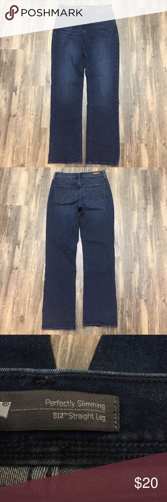 Levi's 512 Perfectly Slimming Straight Leg Jeans Almost new Levi's 512 Perfectly Slimming Straight Leg Jean sz W29 L29. The jeans are in great condition with a unique stitching on the back pockets. Levi's Jeans Straight Leg