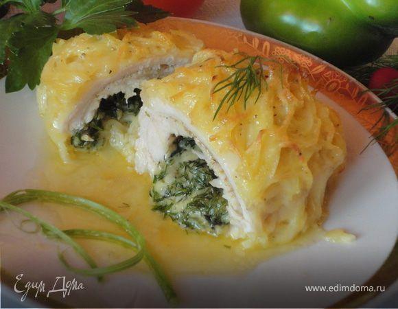 Хрустящая картофельная корочка, нежное сочное мясо и ароматная сырная начинка - комментарии излишни. За рецепт спасибо Елене Марининой.