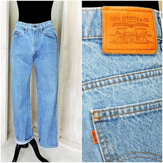 Vintage Levis Orange Tab 31 X 29 Levi S High Waisted Straight Jeans Levi Strauss Boyfriend Jeans Vintage Levis Boyfriend Jeans Straight Jeans