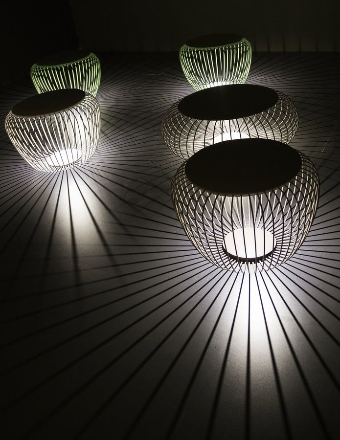 Milano Euroluce 2013 | Light stools by Vibia