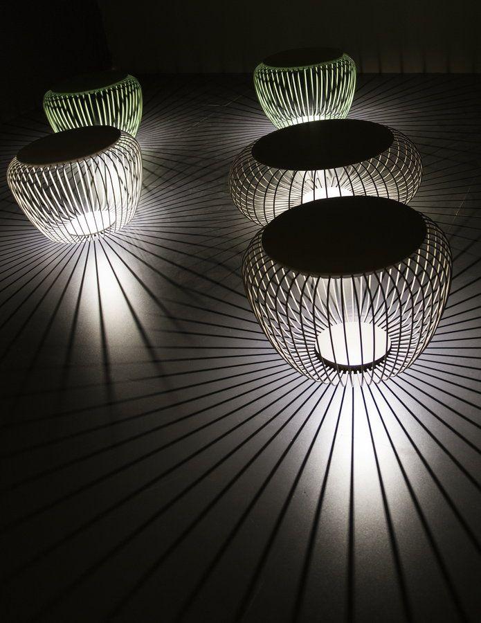 Milano Euroluce 2013 | Light stools by Vibia