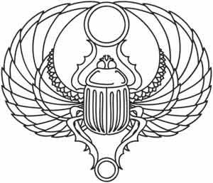 Scarab design (UTH2194) from UrbanThreads.com| $1.00