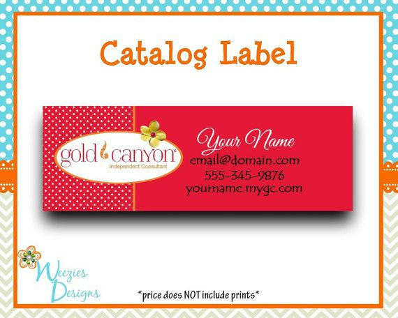 Gold Canyon Catalog label Direct Sales Marketing by WeeziesDesigns