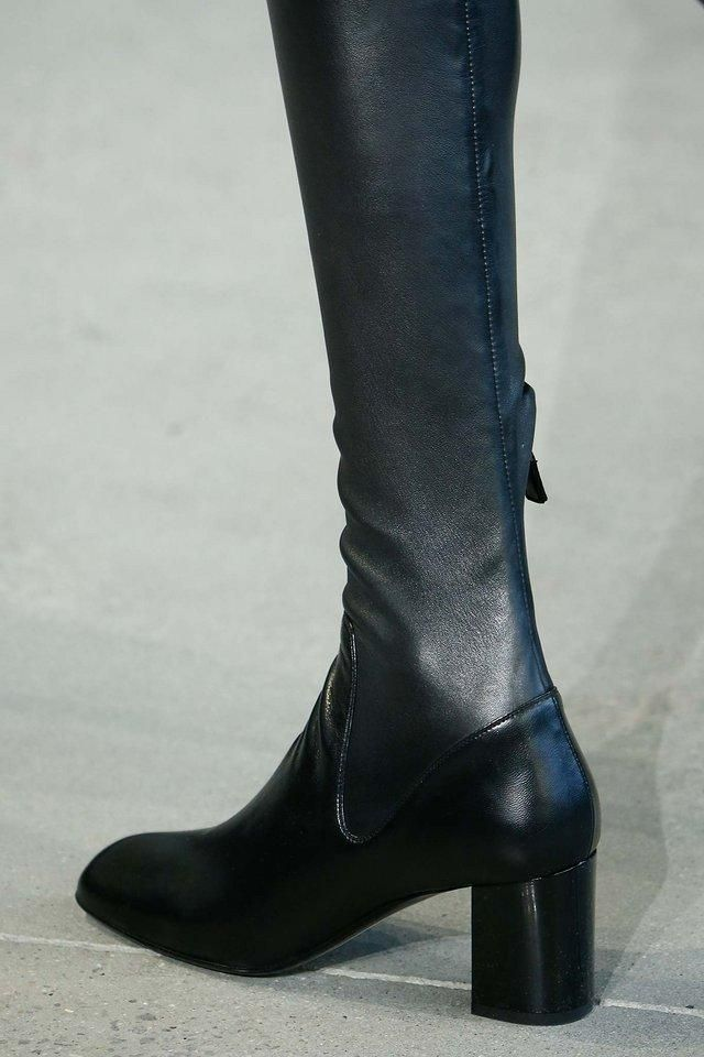 Calvin Klein over-the-knee leather boots