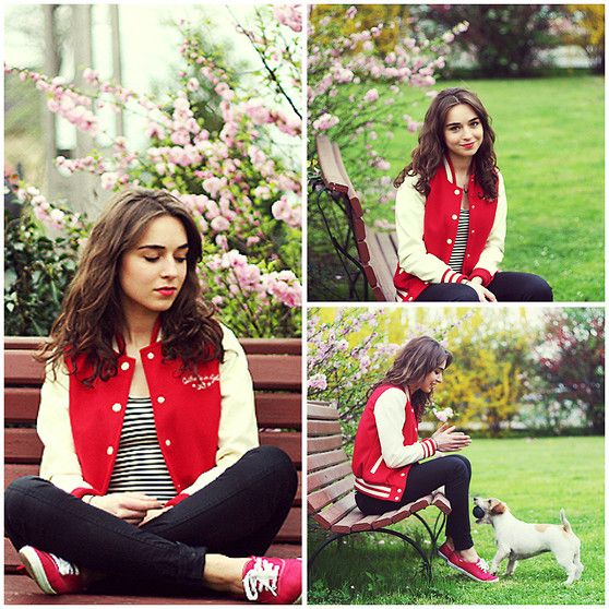 Varsity jacket - Weronika Zalazinska | LOOKBOOK----my new favorite fashion blogger