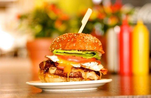 Hangover Burger at Burger Royal (Montreal, Canada). #burgers