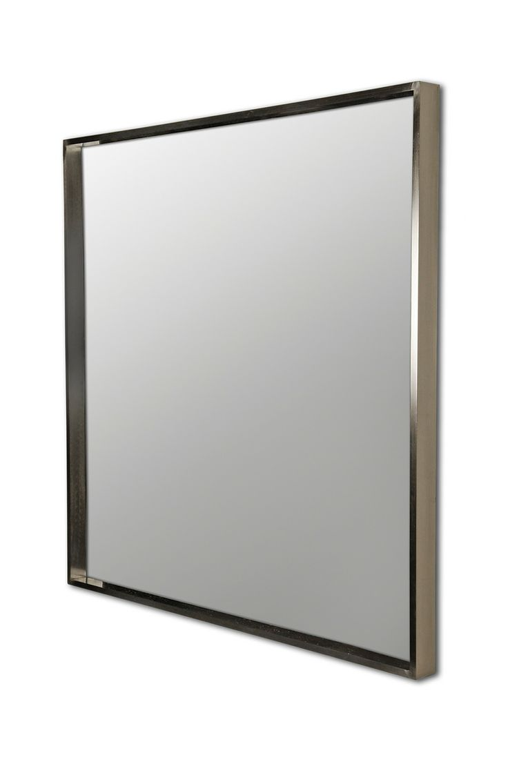 Williams sonoma home five panel beveled mirror - Ren Wil Rectangular Wall Mirror With Satin Nickel Plating