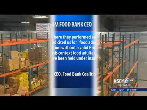 EVENT YOU ARE ASKED TO AVOID THE AREA AS A WHOLE ### NEW INFORMATION ON THE CLOSING OF THE FOOD BANK IN SAN LUIS OBISPO  LAST NIGHT WE REPORTED THE STATE HAD SHUT DOWN THE NEW WAREHOUSE NEAR THE AIRPORT, BECAUSE OF SOME MISSING PAPERWORK WE'VE SINCE LEARNED THE FACILITY WAS ALSO IN...