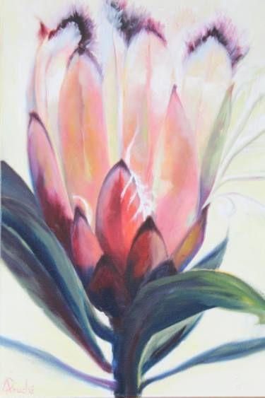 """Saatchi Art Artist Adele Fouche; Painting, """"Protea light"""" #art"""