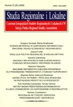 Wydawnictwo Naukowe Scholar :: :: 2005 STUDIA REGIONALNE I LOKALNE nr 2(20)