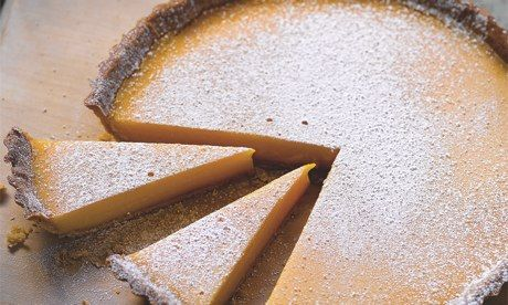 Hugh Fearnley-Whittingstall's lemon tart: 'Sparkling flavour.' Photograph: Colin Campbell for the Guardian
