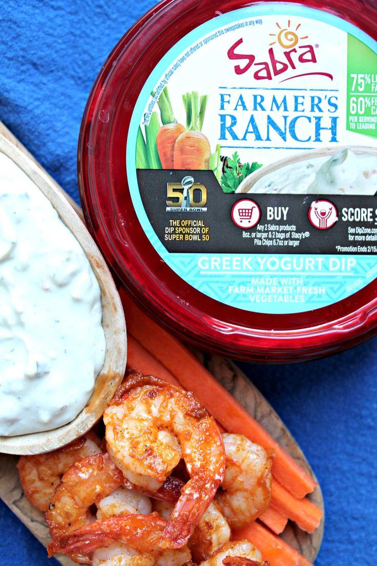 Buffalo Shrimp with Blue Cheese & Sabra Farmer's Ranch Dip