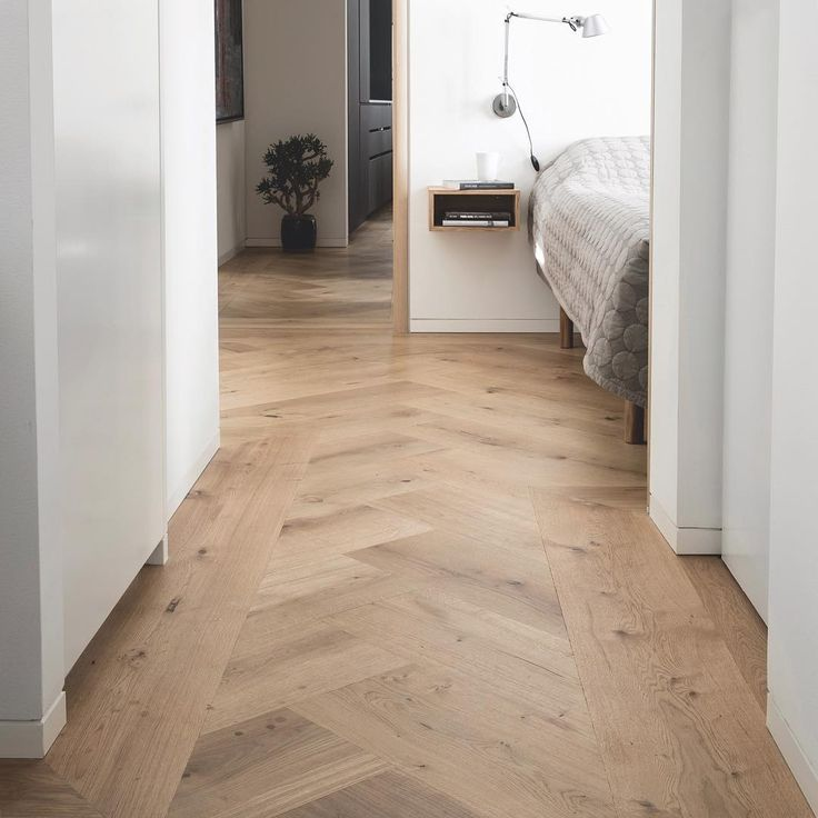 GrandPattern herringbone flooring - Oak by Dinesen