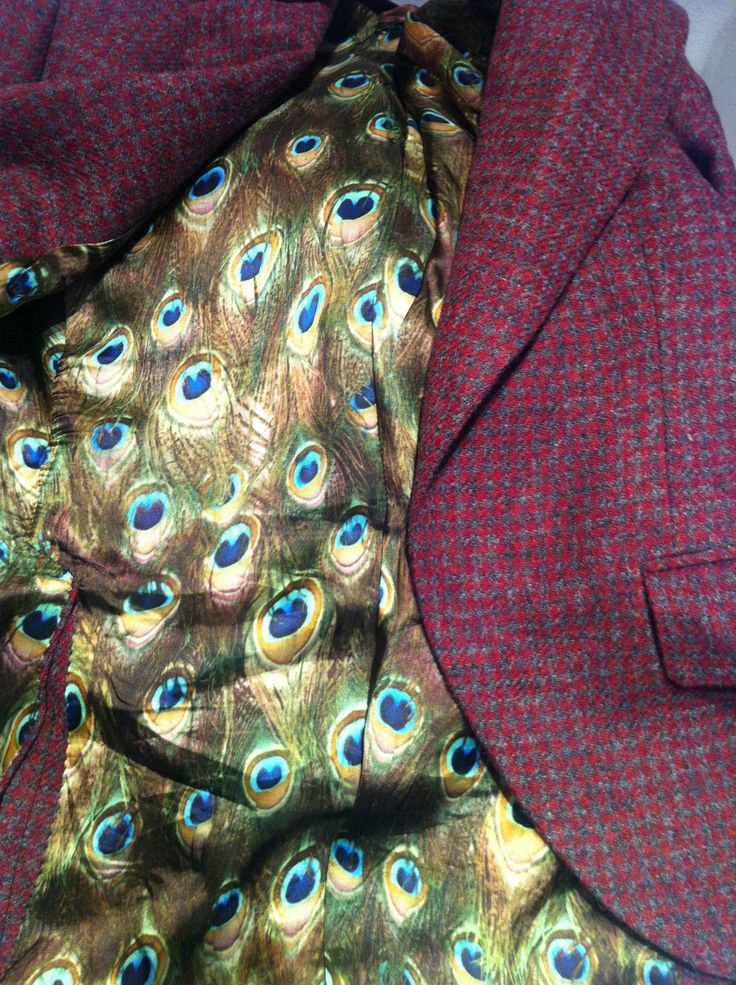Cad and the Dandy using Bernstein & Banleys Peacock Lining