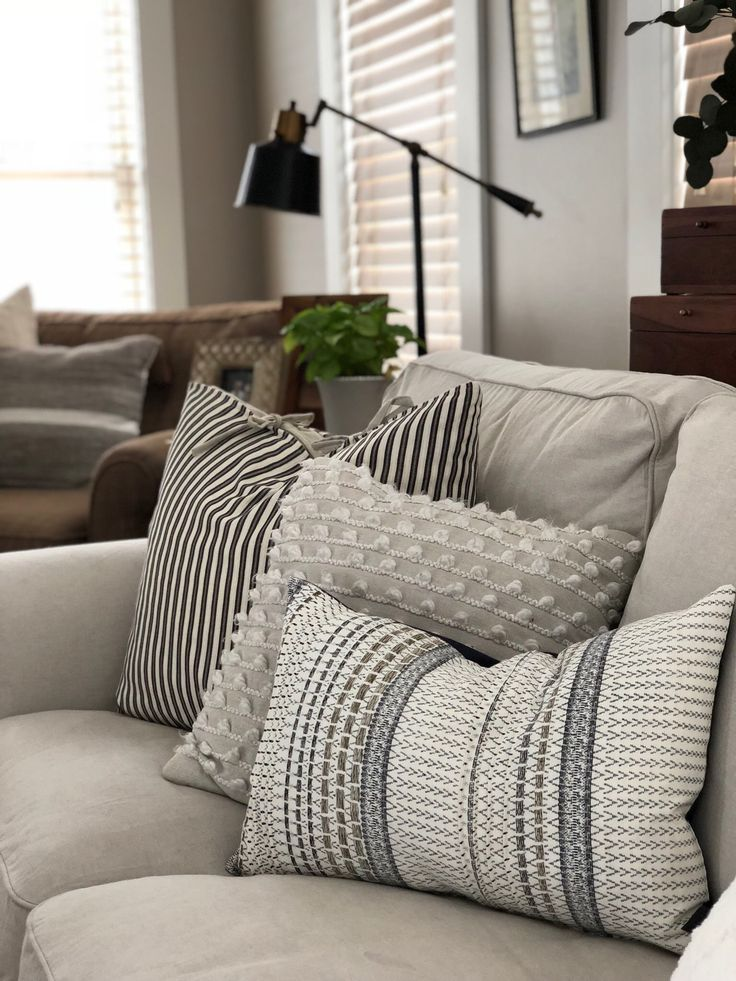 Gray Farmhouse Pillows Farm House Living Room Living Room Pillows Throw Pillows Living Room
