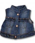 Chaleco de mezclilla para niña consulta nuestras prendas en http://www.mundara.mx/ninas/page/3/