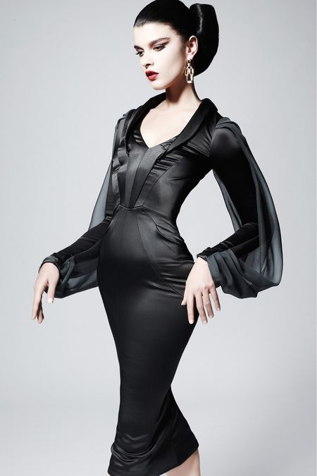 Zac Posen | Pre-Fall 2013 Collection | Crystal Renn Modeling | Style.com