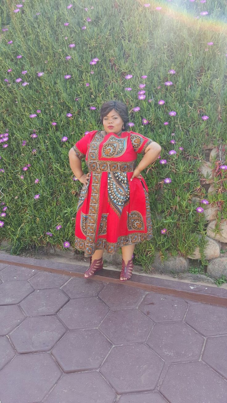 Bold prints red dress from bow africa... styled by Molebo