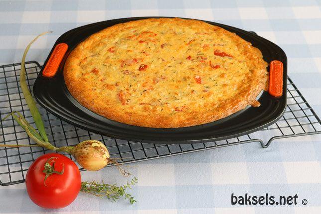 Quiche met tomaten, uien en tijm #recept http://www.baksels.net/site/quiche-met-tomaten-uien-en-tijm/