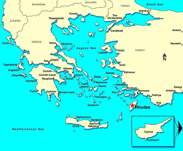 Rhodes Island Greece Map.Greece Map Rodos