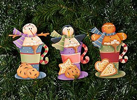 Winter Cocoa Ornaments by Renee Mullins - Decorative Painting Patterns from ArtistsClub.com