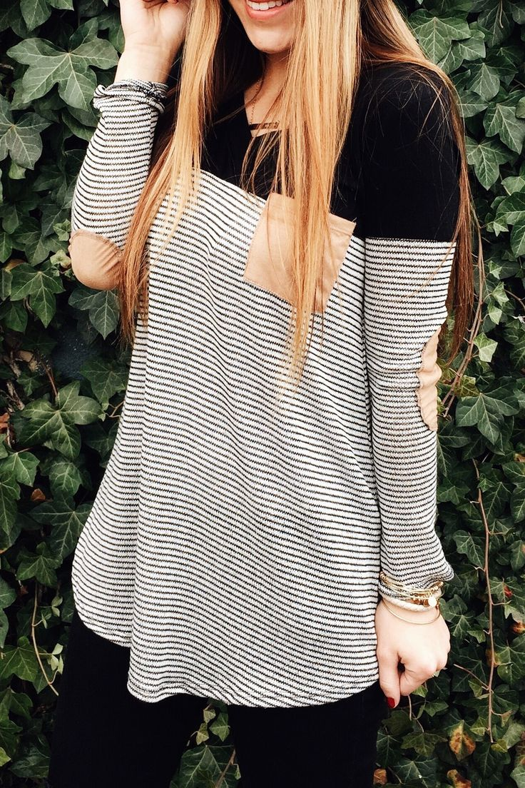 stripes, pocket + elbow patches