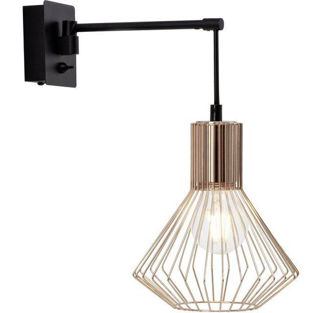 Dalma Wandleuchte Schalter Schwarz Kupfer Wandleuchte Leuchten Led Leuchtmittel