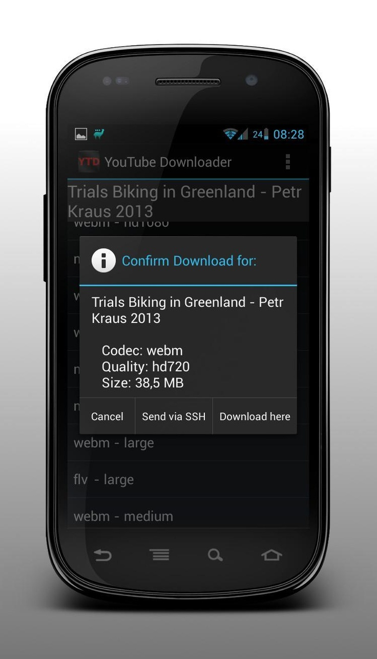 YouTubeDownloader v1.9 for Android - http://mobilephoneadvise.com/youtubedownloader-v1-9-for-android