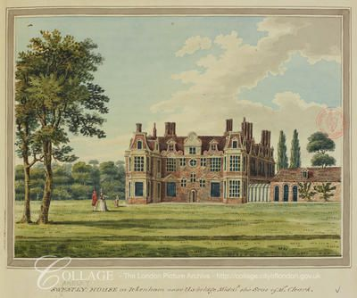View of Swakeley House at Ickenham in Middlesex; Ickenham is now in the London borough of Hillingdon.    c1800