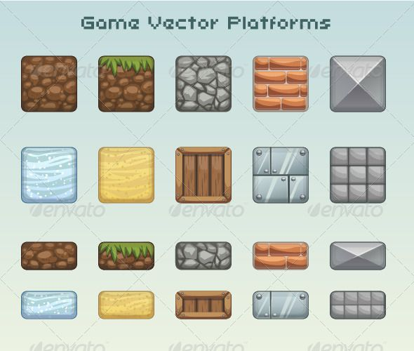 Set of Game Platforms (Objects)