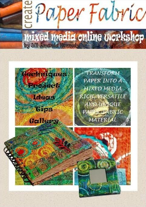 Digital Download Mixed Media pdf Tutorial CREATE by stitchnsew, €13.00