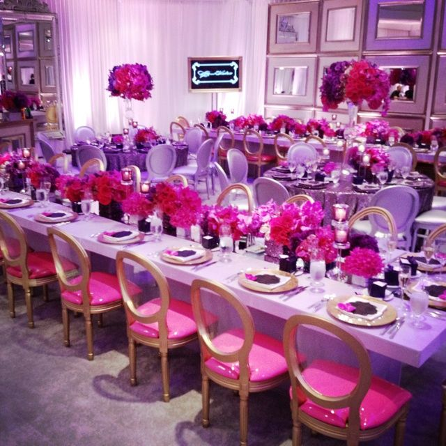 Pinterest Hot Pink And Lavender Reception Decoration