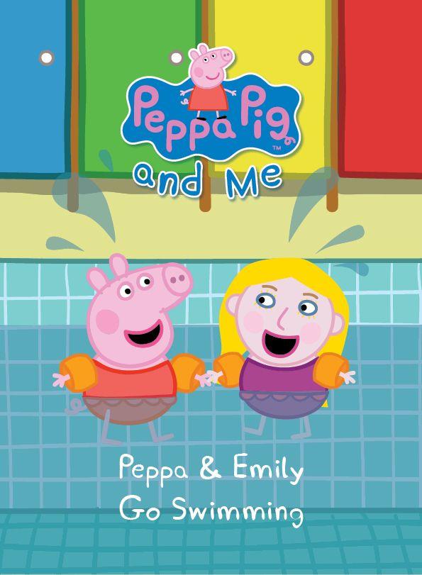 Splashing with Peppa Pig & George in this new #PersonalisedPeppaPigBook #Swimming