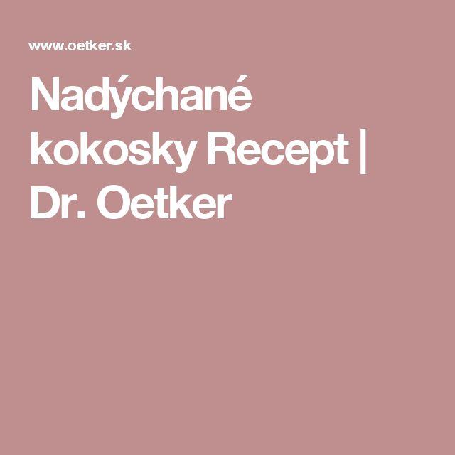 Nadýchané  kokosky Recept   Dr. Oetker