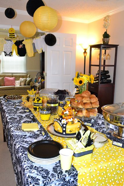 Bumble Bee Gender Reveal Party Ideas | Photo 24 of 30 | Catch My Party