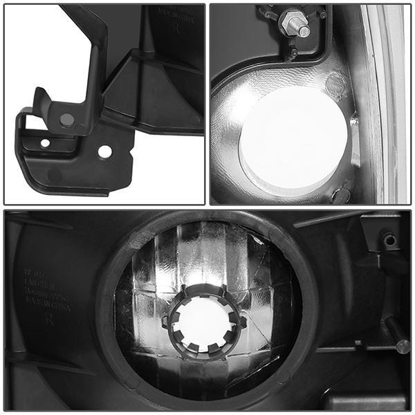 87 91 Ford F150 F250 F350 Bronco Headlights Chrome Housing Clear Corner In 2021 Ford F150 Headlights F250