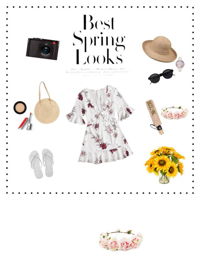 """owowtede"" by saraisyi on Polyvore featuring Havaianas, Leica, BP., Olivia Burton, Revlon, Burberry, H&M, Forever 21, Moschino and Creative Displays"