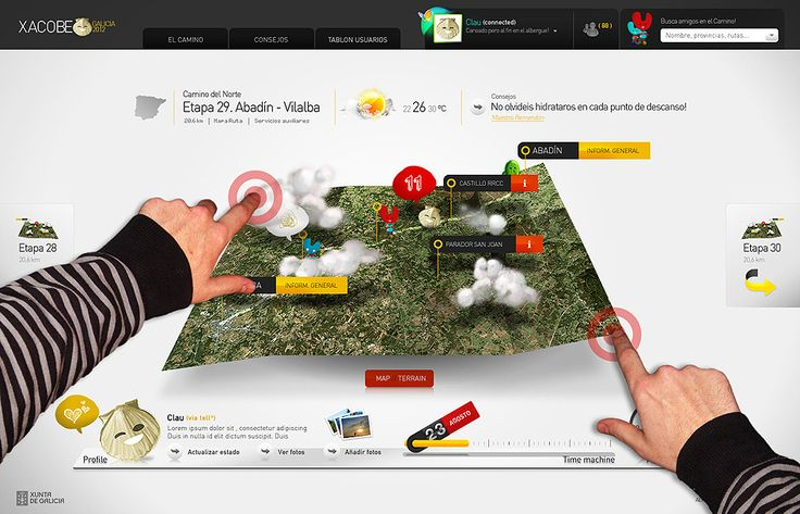 Xacobeo 2012 - Interactive 3D Map | Touch capable UX Design