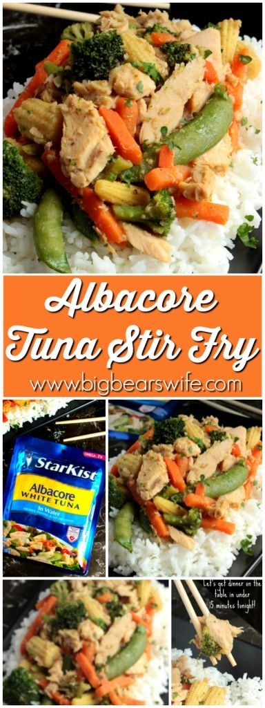 Albacore Tuna Stir Fry - Big Bear's Wife