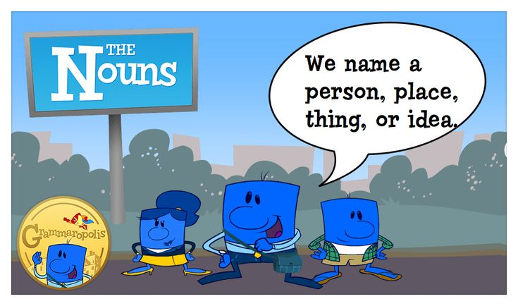 Nouns name a specific person, place, thing, or idea!