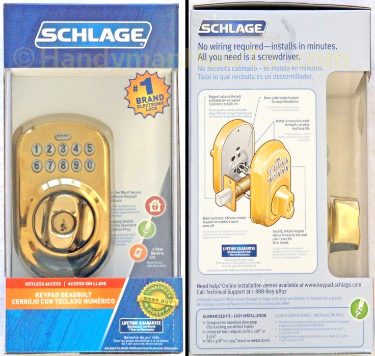 Step by step photo tutorial showing how to install a Schlage Keypad Deadbolt, model # BE365 for keyless access.