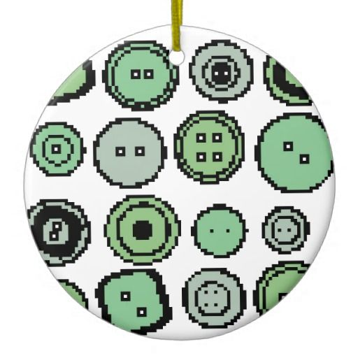 green buttons decoration