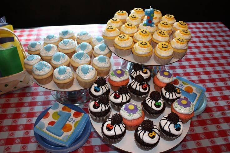 Itsy Bitsy Spider Cupcakes - West's 1st birthday