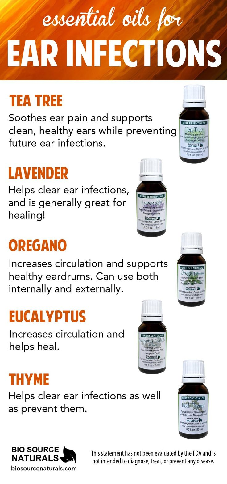 Essential Oils can help soothe symptoms of ear infections.  The aromatherapy benefits include, helping increase circulation, supporting healthy ear drums and soothing ear pain.  #aromatherapy