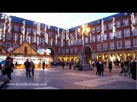 ▶ Navidad en la Puerta del Sol, Plaza Mayor y Cortylandia. Hostal Horizonte Madrid. - YouTube