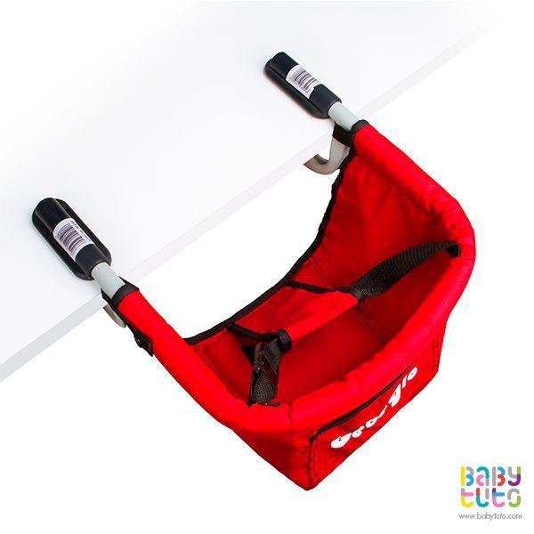 Silla de comer portátil rojo, $29.990 (precio referencial). Marca Bebegló: http://bit.ly/1FmMCGY